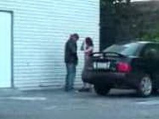 Guy Fucks Some Local Slut At The Parking In Front Of Supermarket
