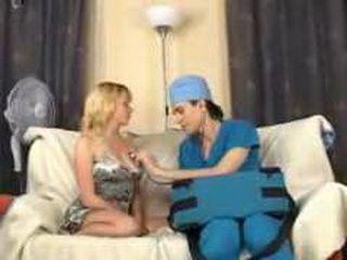 Fake Doctor Violating Sick Blonde Girl That Needs Some Help