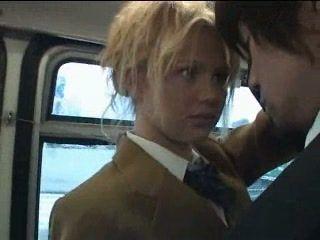 Blonde Schoolgirl Maniac Abuse Japanese Guy In Bus With Handjob