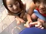 Crazy Japanese Girls Having Fun With Pervert Guys In The Public Park