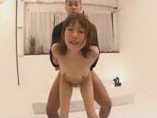 Horny Japanese Girl Gets It Hard From Behind And She Likes It