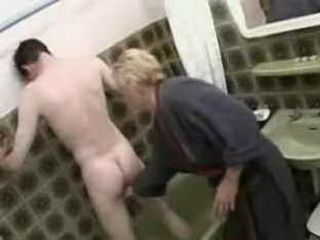 Mom washes stepson in the shower then fucks him xLx