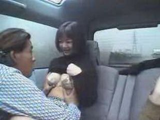 Japanese Lady Gets Fucked In The Car While Driving Through The City