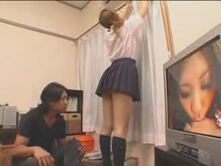 Japanese Hot Girl Came To Help His Neighbor But Instead She Gets Fucked By Him