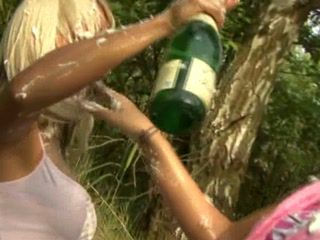 Amateur Girls Gets  On Picnic and Sucks Their Classmate