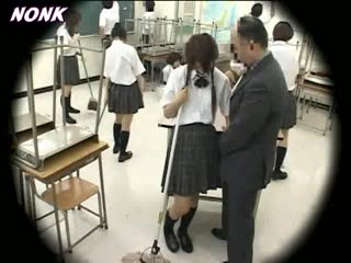 Pervert Japanese Teacher Abuse Schoolgirl In The Middle Of The Class