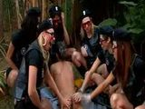 Tranny police gangbangs a criminal