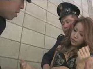 Japanese Police Officers Fucking Female Prisoner In Jail