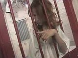 Japanese Girl Behind The Bars Masturbating While There Are No Police Guards