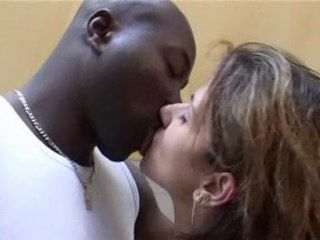 Black Guy With Huge Cock Fuck Skinny French Housewife In Kitchen Anal