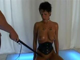 Short Haired Brunette Used As A Sex Toy