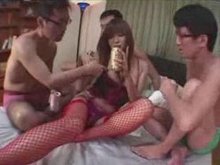 Guys Having Their Fantasies With  Japanese Whore