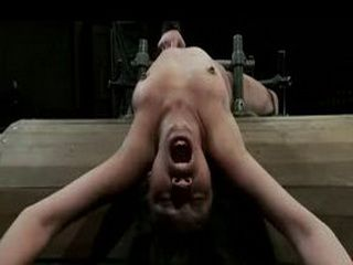 Band backwards brunette machine fucked and pussy vibrated