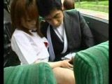 Handjob In Japanese Bus