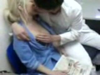 Real Nurse Fucked By A Doctor In His Office