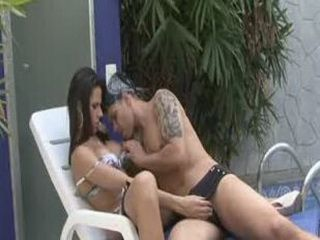 Shemale rewards her friend with a hot load of jizz