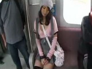 Short Skirt In Public Train Will Bring This Japanese Girl Nothing But Trouble