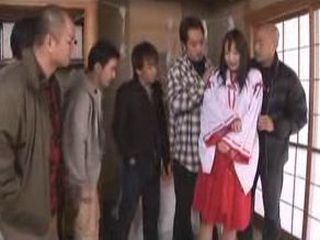 Japanese Mom Surrounded By Group Of Pervrt Men And Fucked Hardly