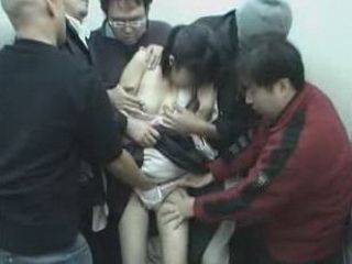 Nightmare For This Japanese Teen Girl In The Elevator