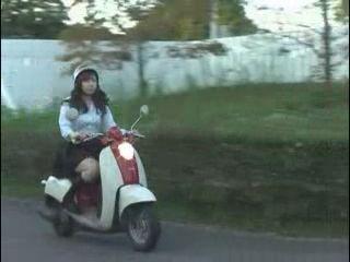 Japanese Biker Girl Got Fucked In The City Park Near By