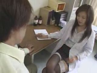 Japanese Horny Nurse Doing Something That It Is Forbidden To Do With A Patient