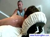 Massage for his tender muscles