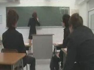 Japanese Female Teacher Will Face Problems At The First Day Of Her New Work