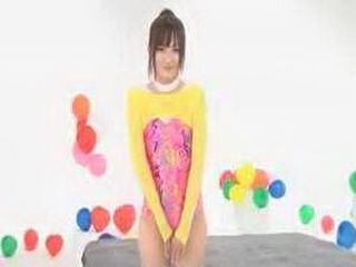 Hot And Sexy Japanese Teen Girl Likes To Play With Balls