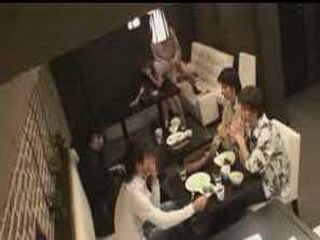 Horny Japanese Teen Girl Doing Porn In The Restaurant While Other Guest Are Sitting On The Table Near By