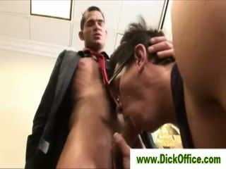 Gay co workers fucking in office