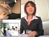 Japanese Grope and Fingering Under Table on Business Meeting