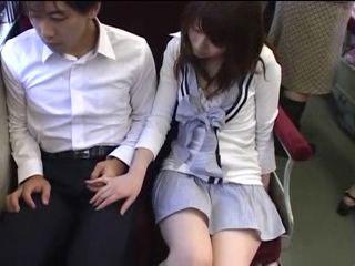 Teen Makes Guy Cum In Train CFNM