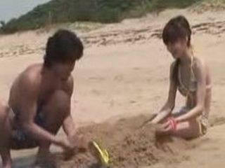Sweet Japanese Girl Goes To Far This Time With Her Step Brother On The Sand Beach