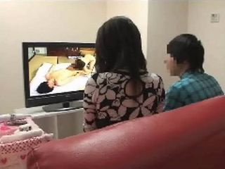 Mother and Son Watching Porn Together