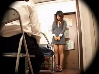 Young Japanese Woman Molested by New Boss