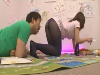 Cute Japanese Teen In Pantyhose Gets Fucked