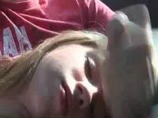 Teen Facial In Backseat On Wild Spring Break
