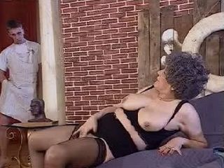 Grandmother Gets Caught Masturbating By Grandson and Gets Fucked In Ass