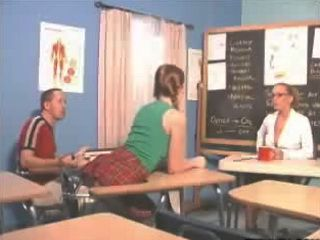 The teacher teach us an anal lesson