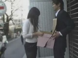 Curious Japanese Woman in Public