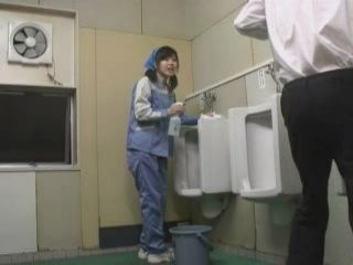 Toilet Cleaner Girl Blows Stranger