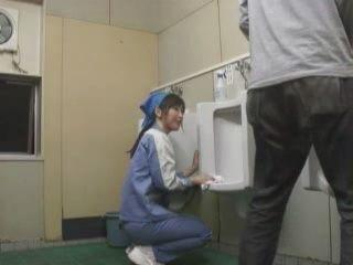 Toilet Cleaner Blowjob In Toilet