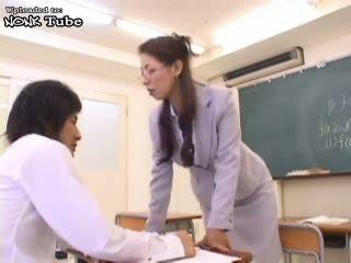 Japanese MILF Teacher Fucked In Classroom