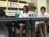 Japanese Woman Gangbanged at Work