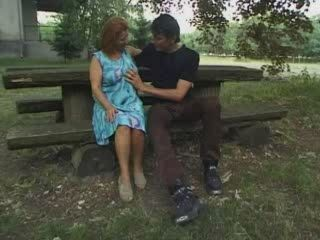 Granny Fucked In Park By Young Guy