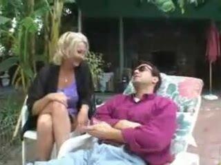 Hot Granny Poolside Fuck