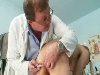 Sam gyno pussy proper examination by older doctor