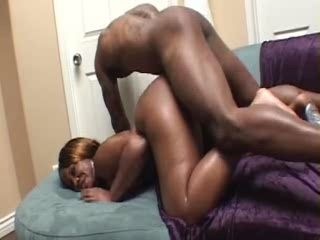 Bubble Butt Ebony MILF Trashed Hard