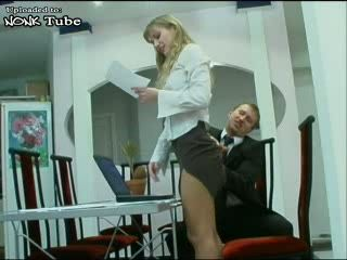 Boss Fuck His Blond Secretary In Ass