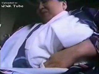 Busty Fat Japanese Granny In Kimono Fucked By Some Samurai Uncensored